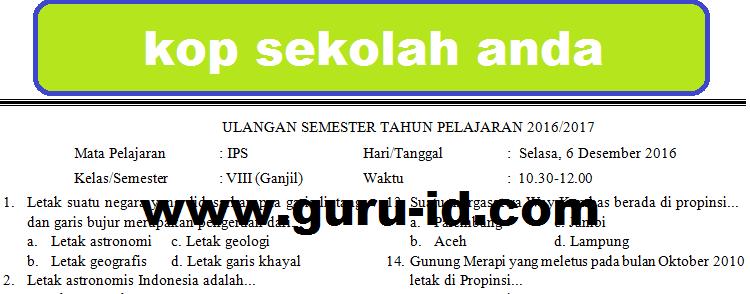 Contoh Soal Dan Jawaban Ips Kelas Xi Ips Semester 2 ...