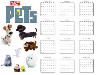 2017 secret life of pets calendar