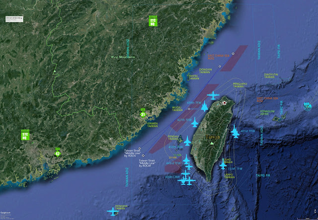 ROCAF bases, wings, Taiwan strait,
