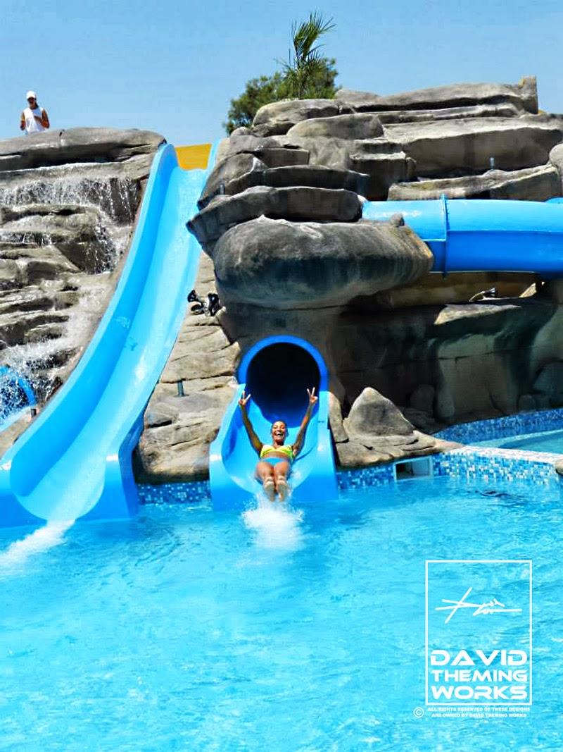 Toboganes de agua para piscinas venta tematizacion creativa for Disenos de quinchos con piscinas