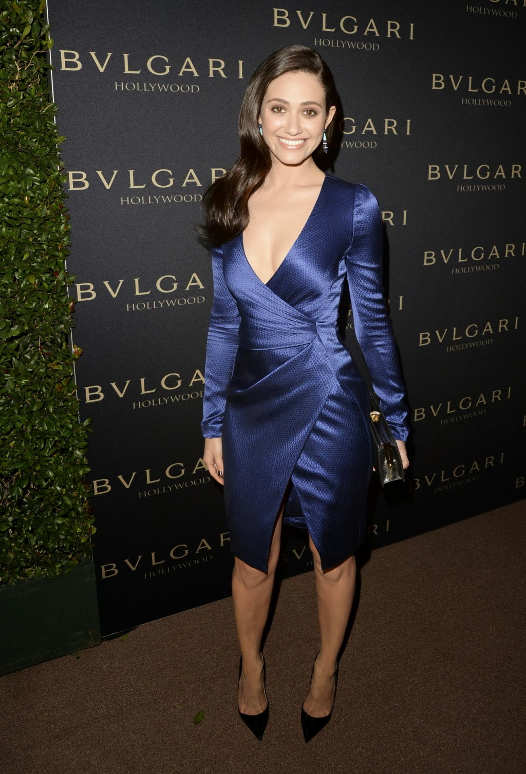 Emmy Rossum Hot Cleavage At Decades Of Glamour Event In
