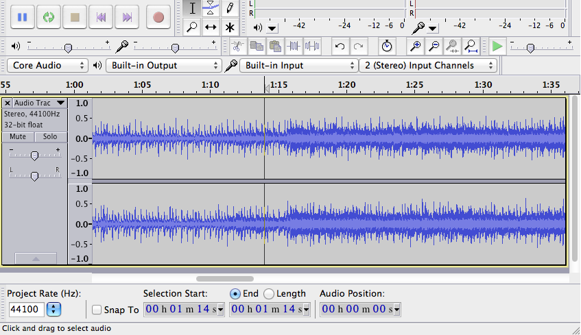 Best Audio editing software - AUDACITY