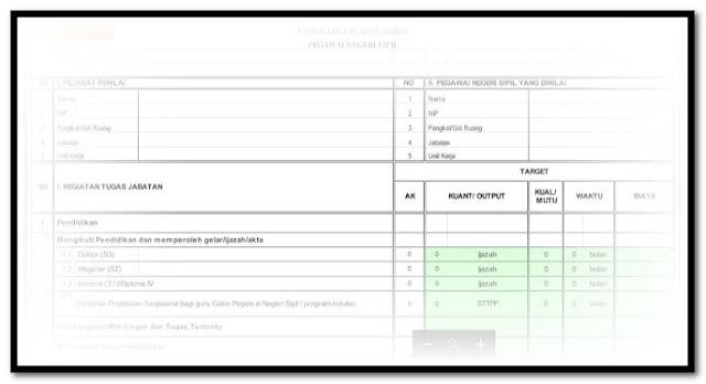 Aplikasi SKP Untuk Kenaikan Pangkat Guru Terbaru Sesuai Dengan BKN Format Excel.Xlsx