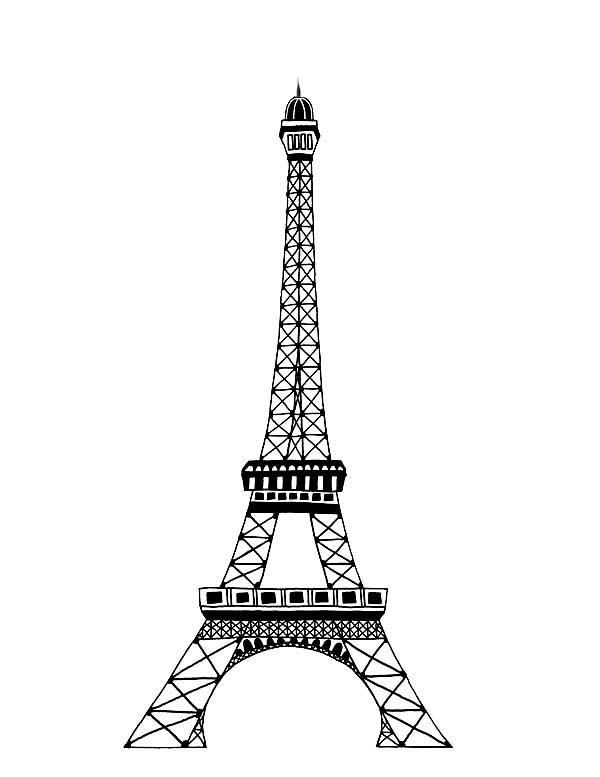 Dessins et coloriages 5 coloriages de la tour eiffel en ligne imprimer - Image tour eiffel a imprimer ...