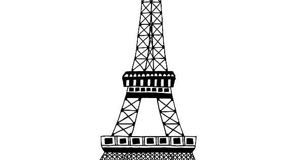 Dessins Et Coloriages: 5 Coloriages De La Tour Eiffel En Ligne à Imprimer