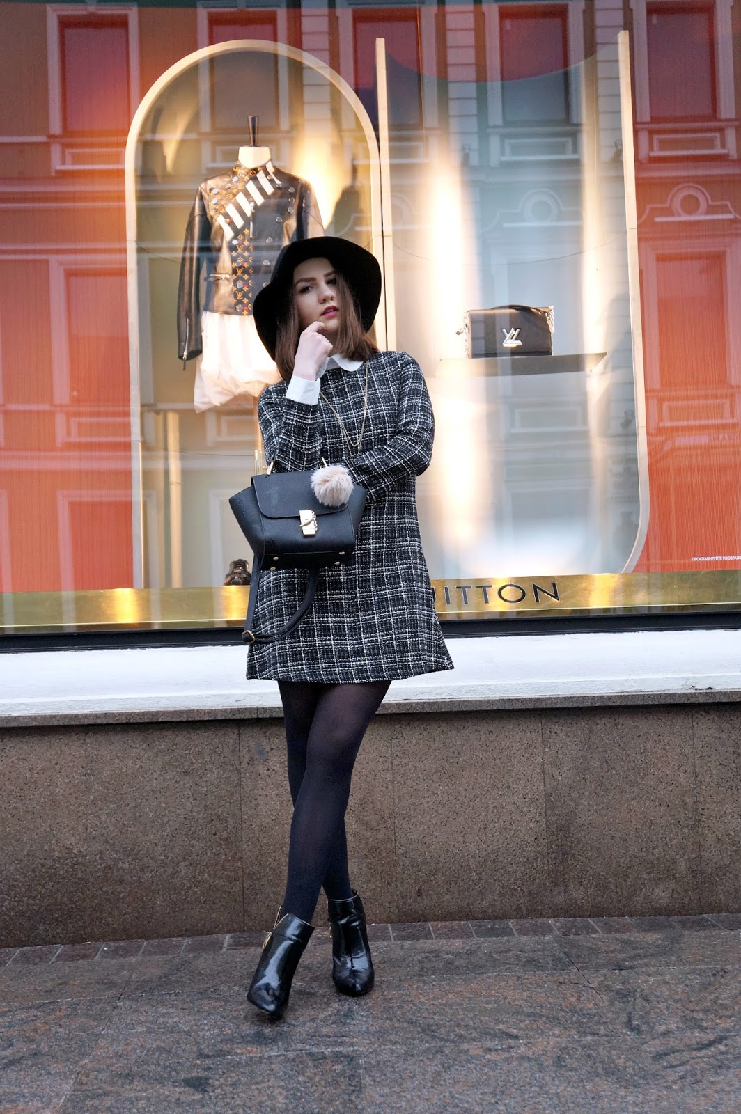 Alina Ermilova   Fashion Blogger   Street Style   Collar dress