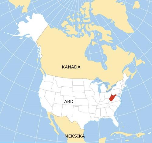 Batı Virginia Amerika'da Nerede . Batı Virginia Eyaleti Neresi Oluyor Haritalarda