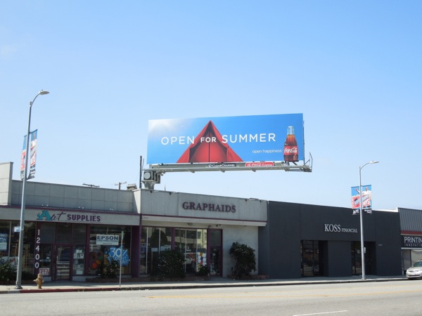 Coke Open Summer tent billboard