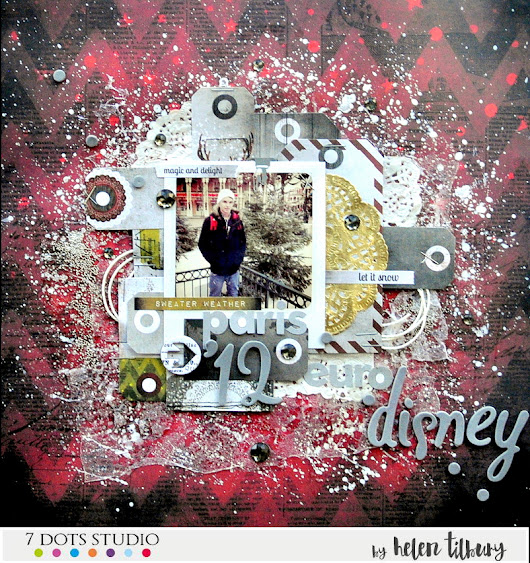 7 Dots Challenge for December - Cold Weather Eurodisney 2012 Layout using Yuletide Collection!