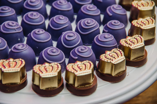 doces festa proncesa, chocolate coroa