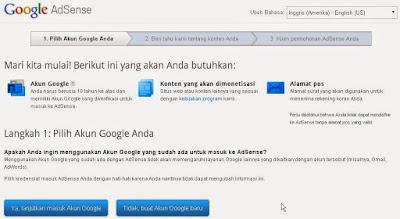 Mendaftar Google Adsense