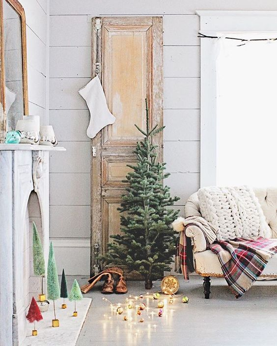 Romantic Farmhouse Christmas holiday decorating shabby chic Dreamy Whites