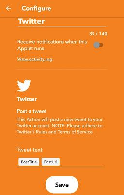 Configure tweet settings