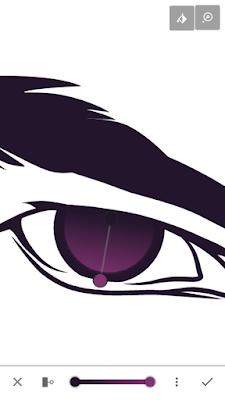 Warna terang mata yang digradient