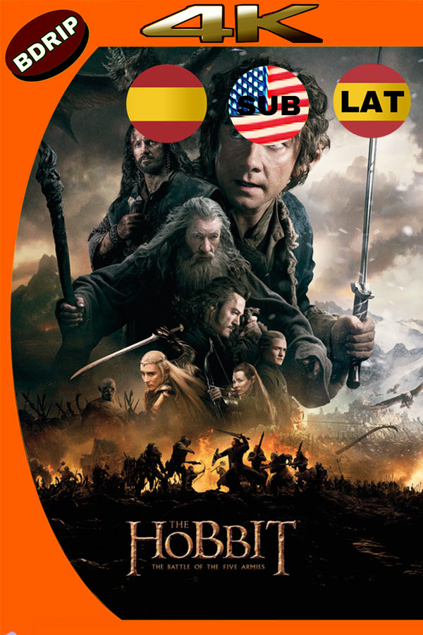 El Hobbit 3 (2014) 4K UHD Latino Version Extendida
