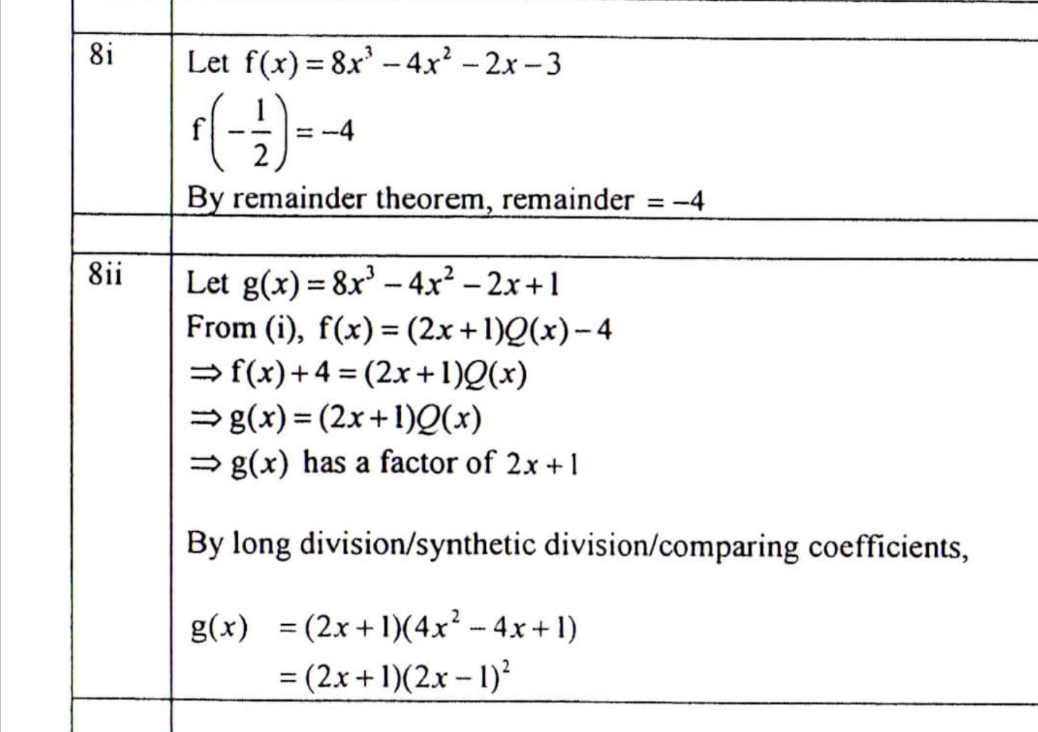 3 Remainder And Factor Theorem Revision And Challenging