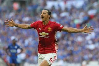 Zlatan Ibrahimovic scores in the community shield