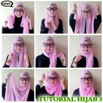 tutorial berhijab style 3