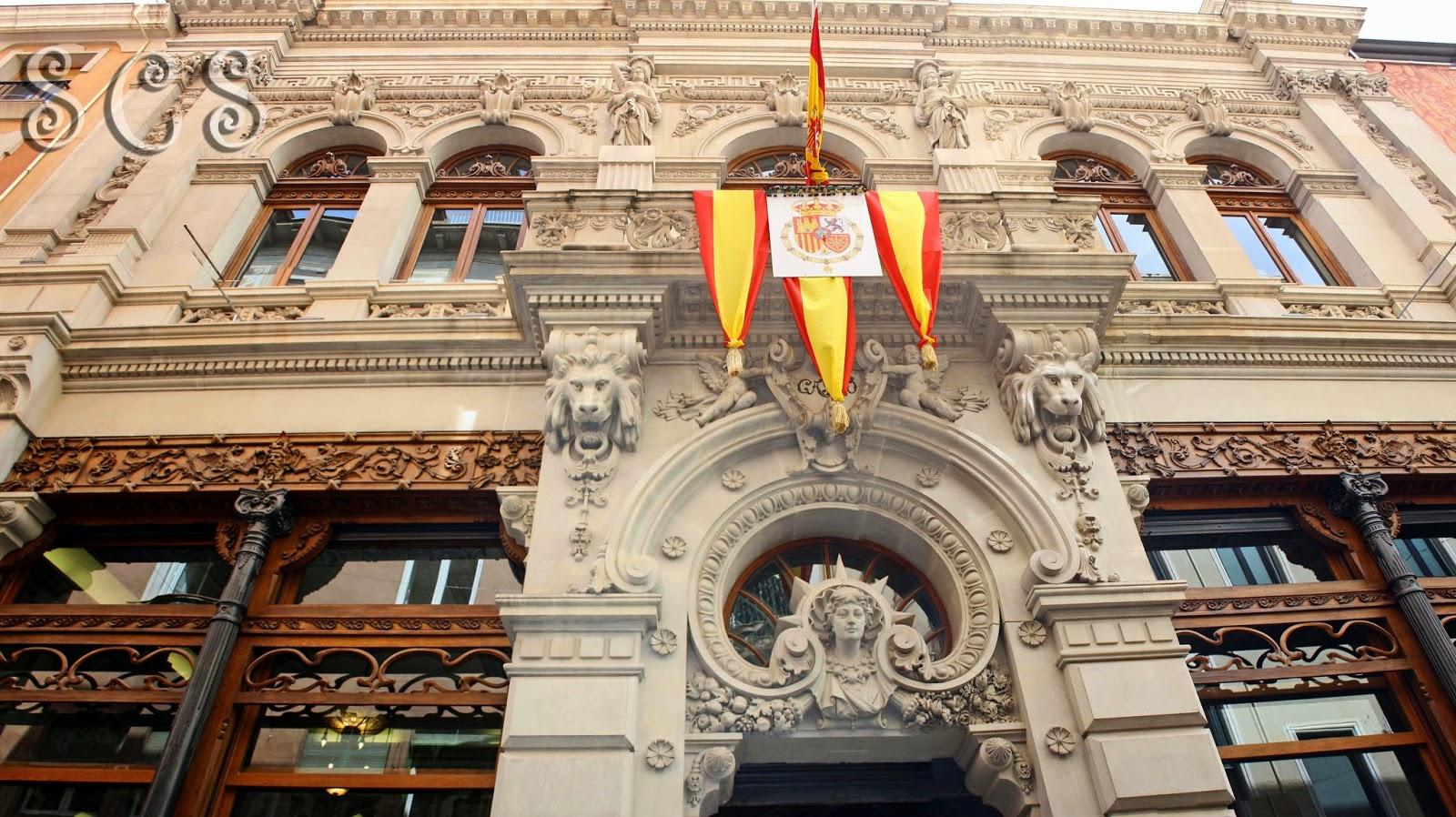 Fachada del Real Casino de Murcia