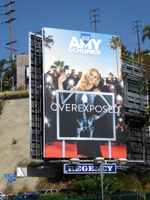 Amy Schumer season 4 Overexposed x-ray billboard