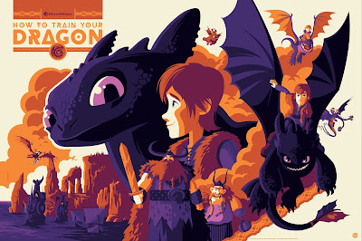 How To Train Your Dragon Variant Screen Print by Tom Whalen x Mad Duck Posters