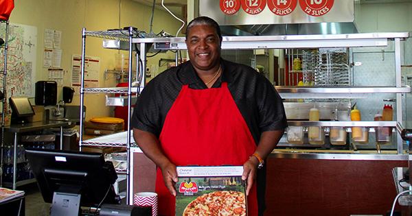 Leo Thomas, owner of 5 Marcos Pizza franchises