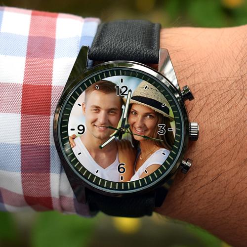 fotoğraflı kol saati erkek için