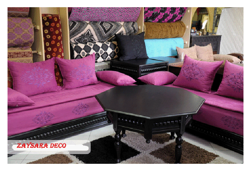 salon marocain salon marocain prix. Black Bedroom Furniture Sets. Home Design Ideas
