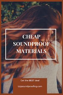 best cheap soundproofing materials