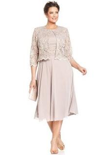 Stylish Mother Of Bride Groom Plus Size Wedding Dress With Jacket