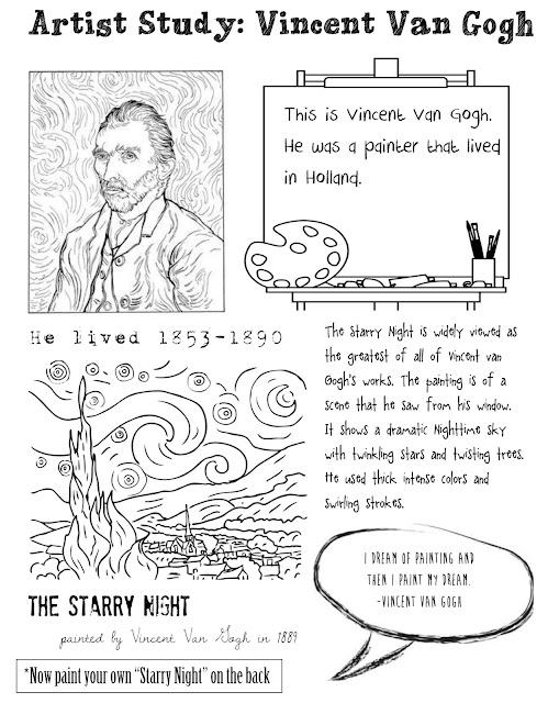 Inspiration Organization: Artist Study: Vincent Van Gogh