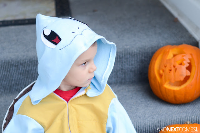 Cute homemade Pokemon costume for kids - how to make Squirtle from And Next Comes L