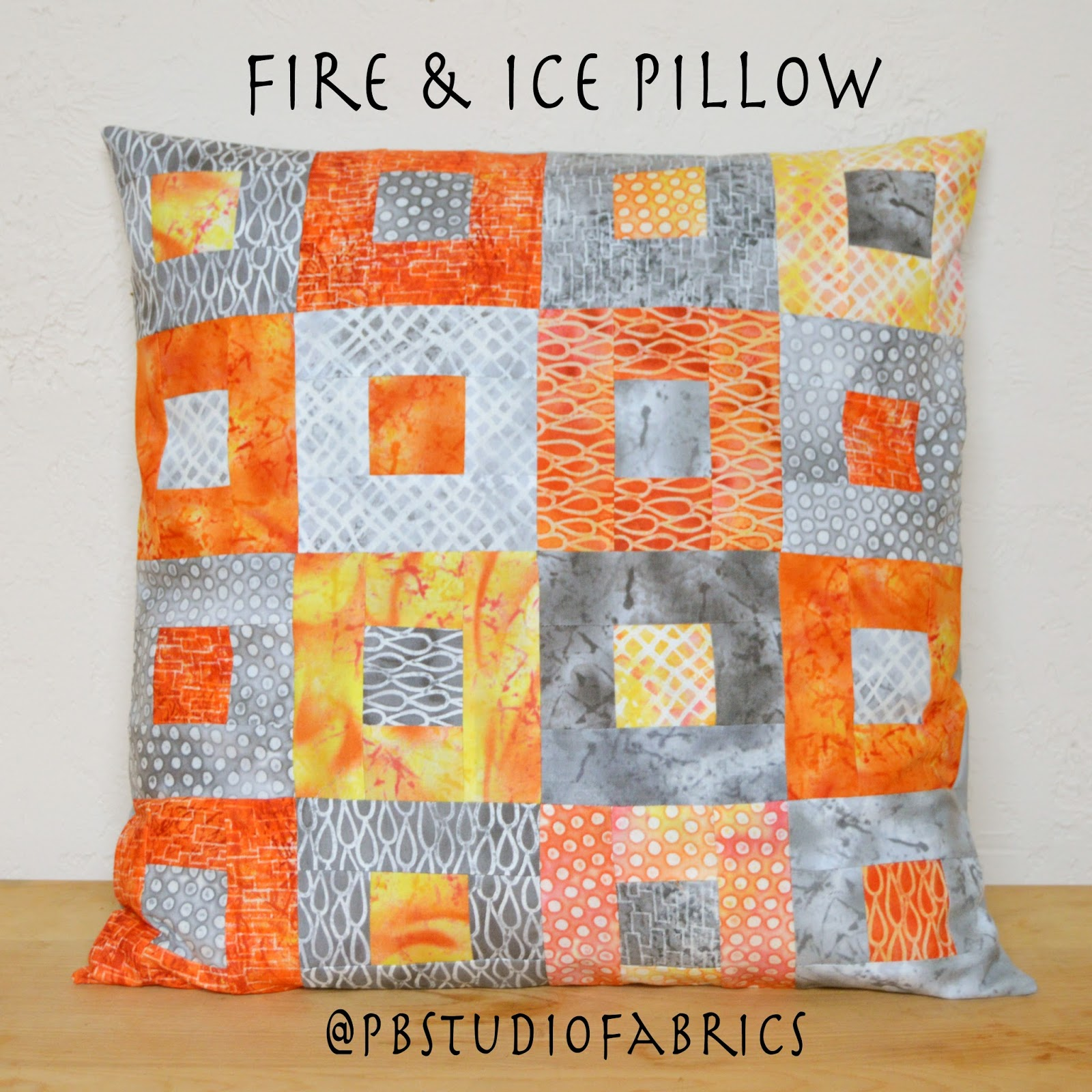 Inspired by Fabric: Freeform 2: Fire & Ice Pillow Tutorial
