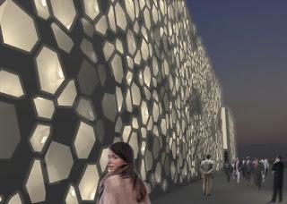 desain concrete GRC yang dipasang di RioGuadalquivir di Spanyol