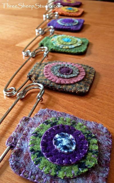 Penny Pins by Rose Clay at Three Sheep Studio