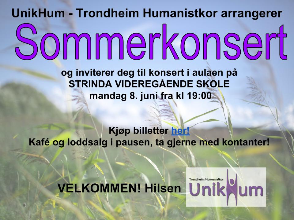 UnikHum - Trondheim Humanistkor: Sommerkonsert