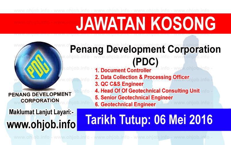 Jawatan Kerja Kosong Penang Development Corporation (PDC) logo www.ohjob.info mei 2016