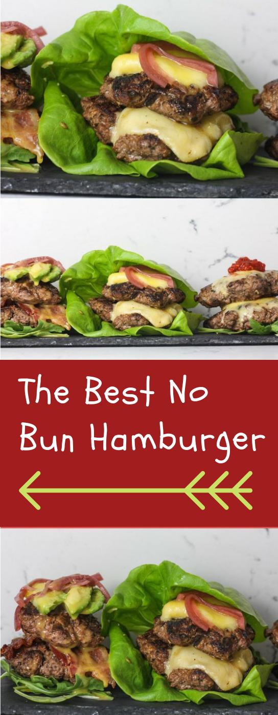 THE BEST NO BUN HAMBURGER RECIPE #diet #hamburger