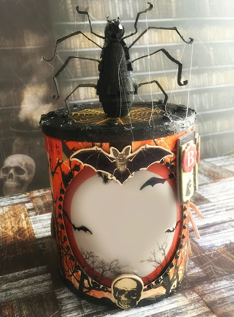 Trick or Treat Box by Ombretta Fusco using BoBunny Wonderfully Wicked