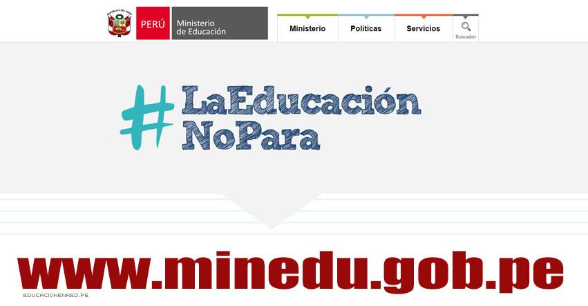 MINEDU: #LaEducaciónNoPara - Mejora en las condiciones laborales de los docentes - www.minedu.gob.pe