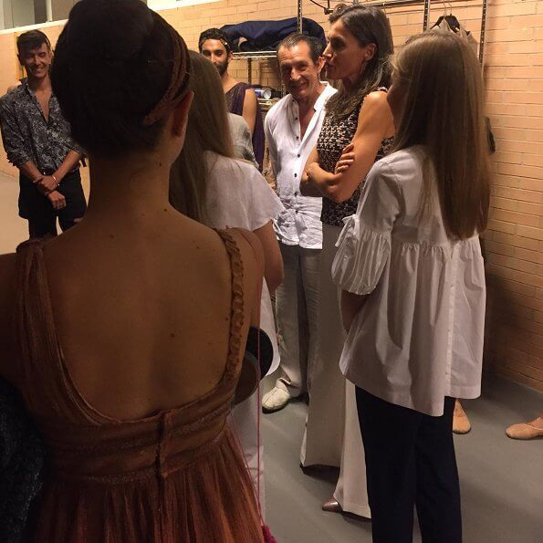 Queen Letizia, Crown Princess Leonor and Infanta Sofia attended the ballet performance Antígona