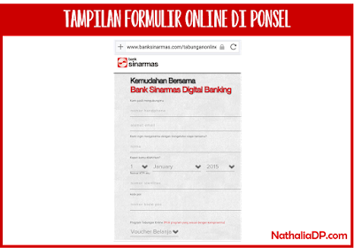 rekening online bank sinarmas