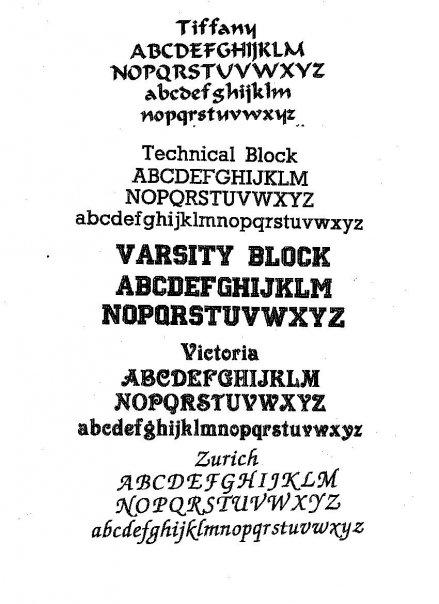 Just Say Sew: Fonts