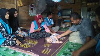 Lembaga Peduli Dhuafa Kunjungin dan Santuni Anak Bocor Jantung, Aceh Utara