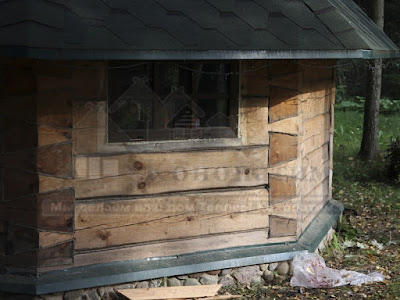 Пример работы по утеплению гриль домика.