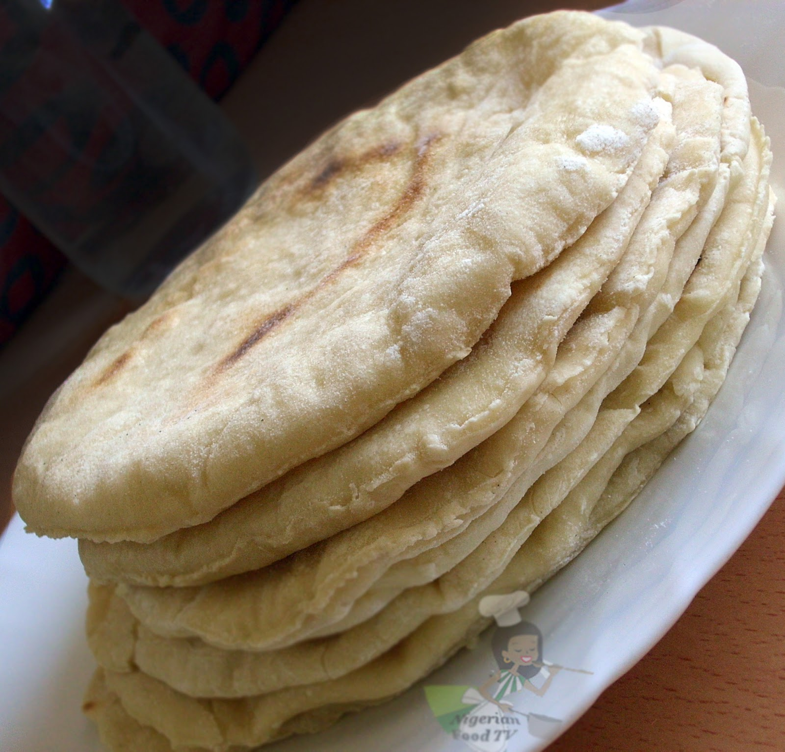 Homemade Shawarma Bread in a Pan pita bread Naan Flat Bread