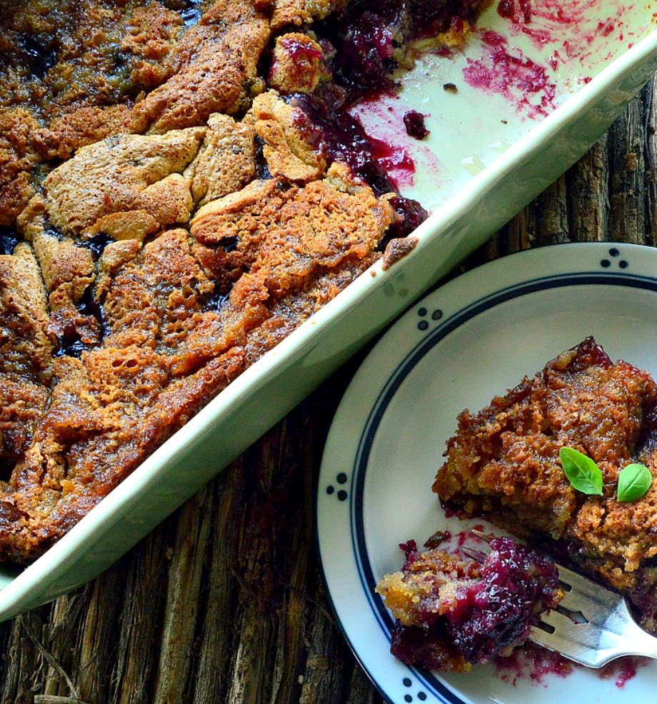 This blueberry and blackberry cobbler with browned butter is so simple to make and the perfect way to use all those gorgeous berries. You will love it! #berries #cobblers #dessert www.thisishowicook.com