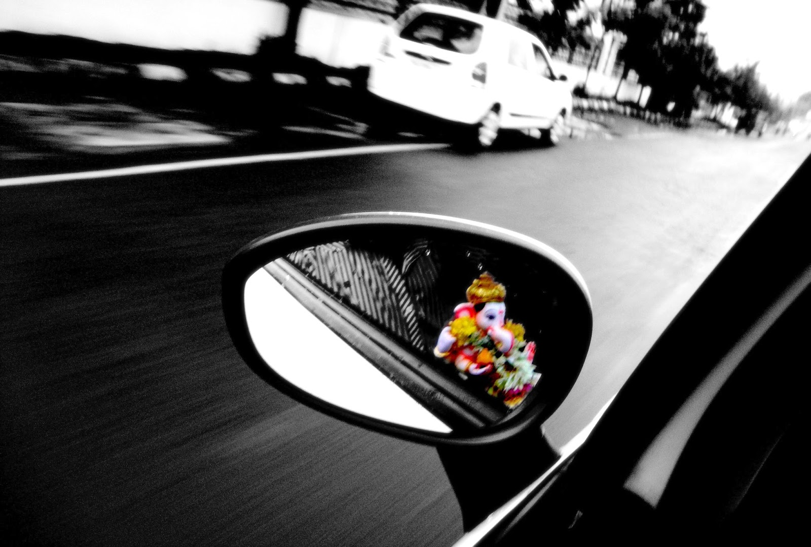 Ganapati Visarjar Black and white photography with color ...