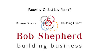 Supporting image for a Bob Shepherd Associates LinkedIn Article: Paperless or Just Less Paper?