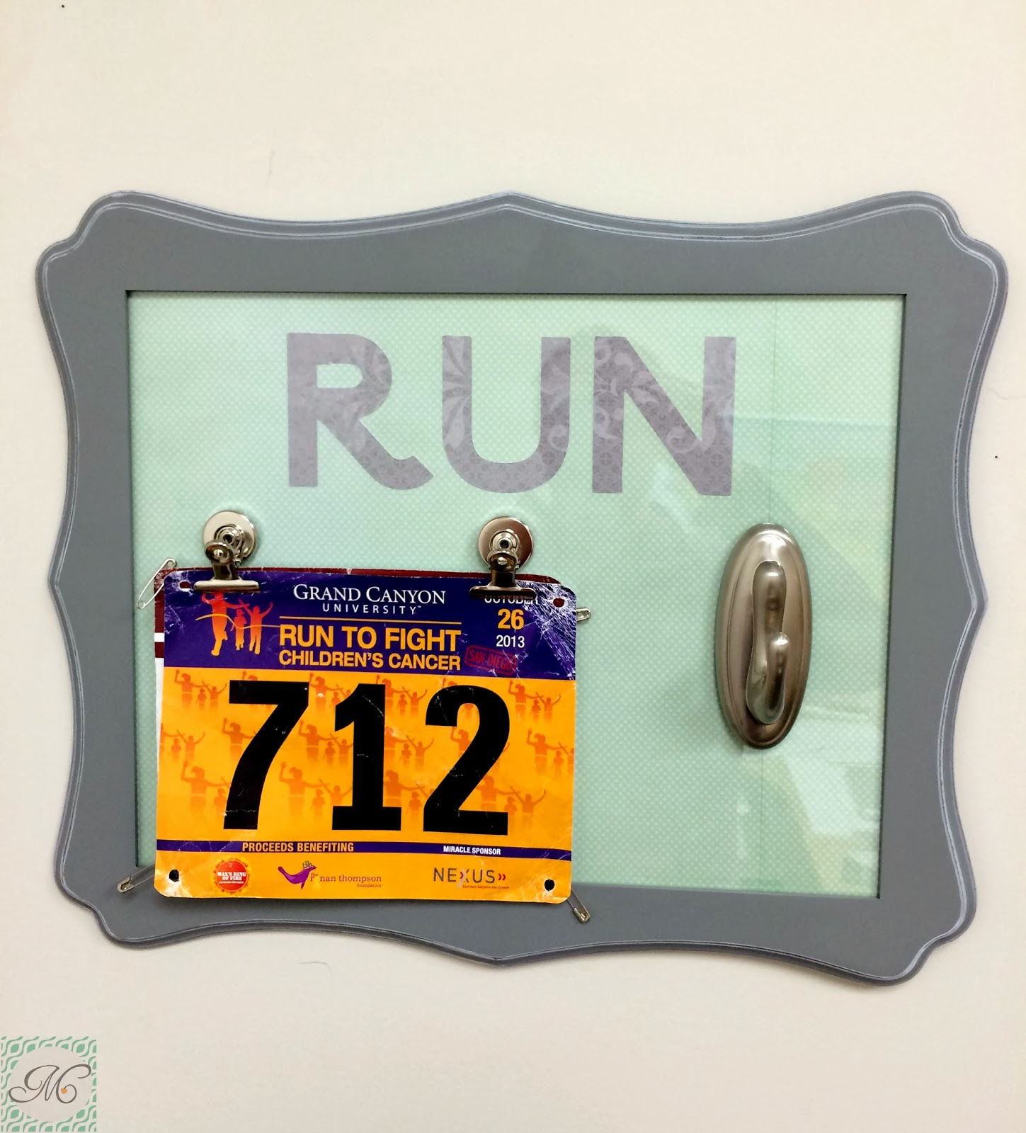 Mejia Mamma Diy Race Bib Medal Display